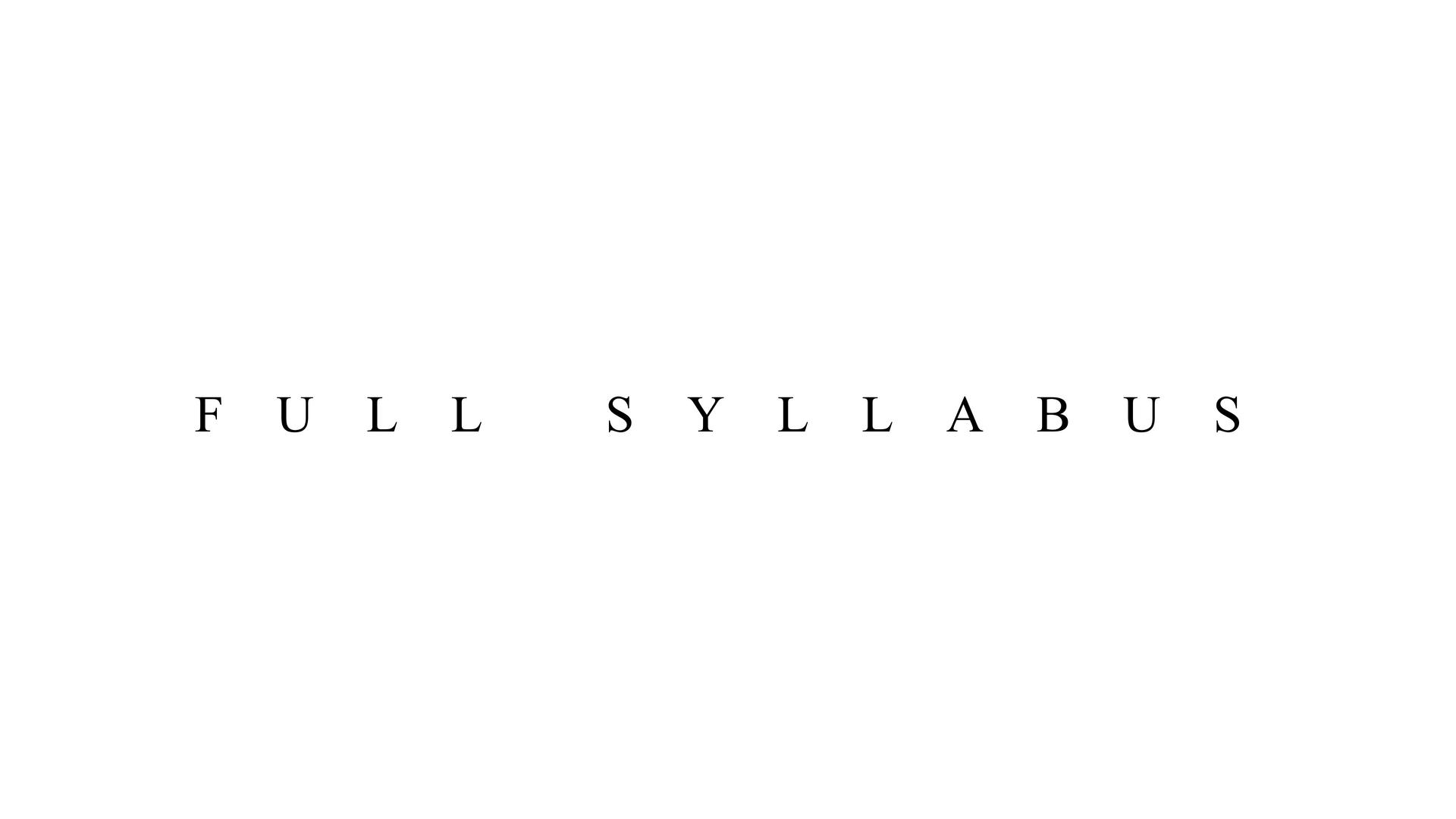 Full Syllabus – RADICAL HOPE